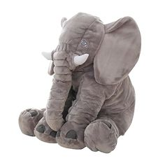 BOOKFONG Infant Soft Appease Elephant Playmate Calm Doll Baby Appease Toys Elephant Pillow Plush Toys Stuffed Doll Color: gray, pink, yellow, blue, purple Material: good PP cotton Package Elephant Pillow Elephant Plush Pillow, Baby Elephant Toy, Elephant Stuffed Animal, Cute Elephant, Elephant Cushion, Grey Elephant, Elephant Theme, Stuffed Animals, Elephant Nursery