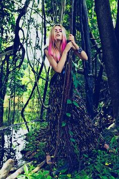 Pink-Streaked Jungle Shoots - The Cato Van Ee L Officiel Paris Editorial is Full of Tropical Fun (GALLERY)