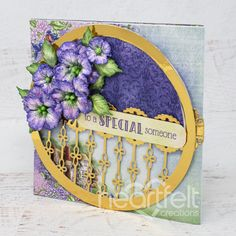 Golden Hinges Handmade Greeting Card - If you want to make someone feel special, this is the card to send that message! Handmade Greetings, Greeting Cards Handmade, Card Making Tutorials, Making Ideas, Heartfelt Creations Cards, Paper Crafts, Diy Crafts, Card Maker, Handmade Flowers