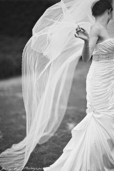 Veil flying. Completely candid capture :)   By Jenny Sun Photography  http://www.jennysun.com