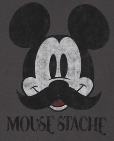 Moustache. Disney Mickey Mouse graphic