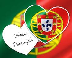 Força Portugal avec l'écu du drapeau dans le coeur