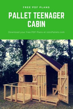 Want to build a teenager cabin for your kids? You can download our FREE PDF Plans to build one like this! :)
