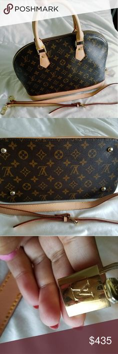 """LOUIS VUITTON MONOGRAM ALMA Size: Length """"15 x Width 11"""" inches Condition :  excellent condition.no any damage .Pre-owed with love and care.. No dustbag, . has a datecode..RA1780 Material: Real Cowhide leather  AAAA+  No rude comments please.just keep it to ur self please..thank u.. Louis Vuitton Bags Satchels"""