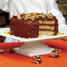 candy bar cake by fay