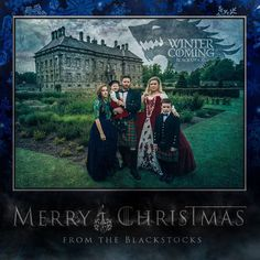 Are you thinking of sending out a Christmas card this year? Don't. Give it up. You can't win. Kelly Clarkson already dominated this year's holiday season with her family's card. She and her husband, along with their daughter River Rose, and her stepchildren went all out with their traditional wardrobe to snap a gloomy Game of Thrones themed photo.  Winter isn't coming, thanks to Ms. Clarkson, it's already here. Props to Clarkson for the best hashtag of the day: #riverisnotworried.