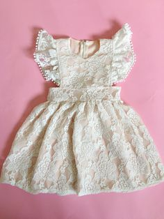 all pinafores are lined. zip up the back.hand wash ONLY. lay flat to dry.runs true to our sizing. see sizing chart on homepage.all sunsuits are made to order. 1st Birthday Cake Smash, Girly Girl, Girl Dolls, Frocks, Fabric Design, Zip Ups, Vintage Outfits, Summer Dresses, Clothes