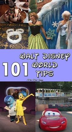 101 Disney World tips & tricks for a great Walt Disney World Vacation; including how to save money, avoid lines, meet your favorite characters and more!