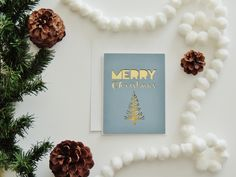 Merry Christmas Card By Corazones de Papel | Handmade Stationery