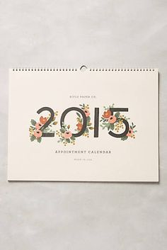 Gardenia 2015 Desk Calendar