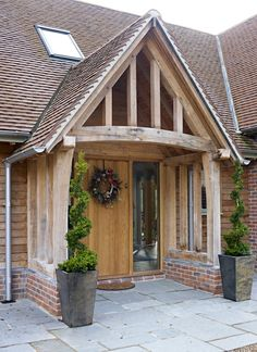 Border Oak Porch on a new build barn home. Border Oak Porch on a new build barn home. Image Size: 553 x 760 Source