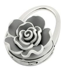 Amico Lady Gray Rose Flower Decor Handbag Design Foldable Purse Hand Bag Hook Hanger by Amico. $5.90. Size Type : Regular;Total Size : 6.5 x 4.5 x 2.5 cm / 2.5 x 1.8 x 1 inches (L*W*H);Color : Gray,Silver Tone. Size : Small;Height : 10 cm / 3.9 inches (Unfolded);Style : Foldable. Net Weight : 58g;Package Content : 1 x Handbag Hook. Exact Color : Gray,Silver Tone;Material : Metallic,Polymer Clay. Suitable for : Lady;Pattern : Rose Flower;Brand : SourcingMap. Ladies foldabl...