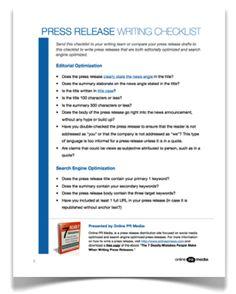 Make your press release checklist, and check it twice! #BUPRSSA #rhettyPR #publicrelations