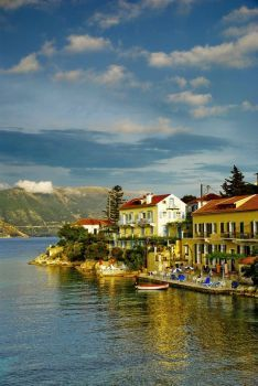 Greece Travel Inspiration - Fiscardo is a picturesque and beautiful Greek harbor village on the Northern tip of Kefalonia, largest of the seven Ionian islands. Places To Travel, Places To See, Wonderful Places, Beautiful Places, Myconos, Harbor Village, Patras, Places In Greece, Greece Islands