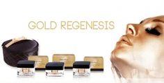 ANTI AGING  'Gold Regenesis' RIJPE HUID (40+) - LUXUEUZE COLLECTION GOLD REGENESIS  SERIE GEMAAKT VOOR DE RIJPE HUID (40+) De exclusieve cosmeticalijn Gold Regenesis is ontwikkeld om effectief alle tekenen van veroudering te bestrijden. De rijke formule van deze crèmes is gebaseerd op een uniek actief bestanddeel: biologisch opneembaar colloïdaal goud.  Deze producten zijn zeer zuinig in gebruik.Parfumpaviljoen