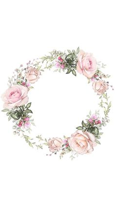 Flower Backgrounds, Flower Wallpaper, Iphone Wallpaper, Logo Fleur, Kalender Design, Illustration Blume, Wreath Drawing, Floral Border, Instagram Highlight Icons