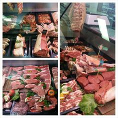 The butcher's counter at Greeff's Butchery, artfully arranged by Steve. Nom nom! #foodart #beef