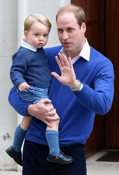 Prince William took Prince George to meet his new baby sister, Princess Charlotte, at St. Mary's Hos... - Chris Jackson/GettyImages.com