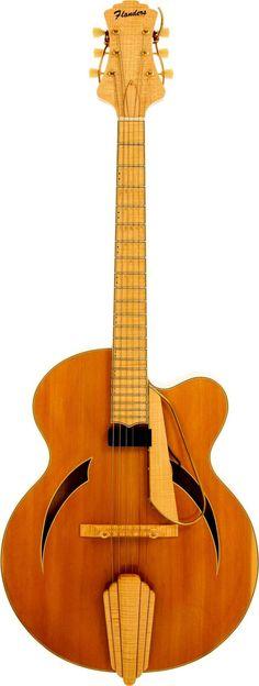 frettedchordophones: 1995 Flanders Executive archtop Guitar =Lardys Chordophone of the day - a year ago --- https://www.pinterest.com/lardyfatboy/