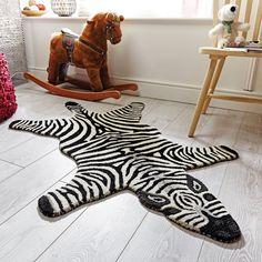 Kids Printed Zebra Hide Play Mat Carpet Rug with Soft Pile – Black – 90 x 150 cm   eBay