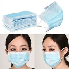 PCS 3 Layer Disposable Ear-loop Surgical Face Mask Dust Filter Mouth Cover with Non-woven Fabric(Blue. 50 3 Layer Disposable Ear-loop Surgical Face Mask Dust Filter Mouth Cover with Non-woven Fabric(Blue). Face Mask Set, Nose Mask, Half Face Mask, Facial, Inner Ear, Medical Dental, Mouth Mask, Air Pollution, Ear Loop