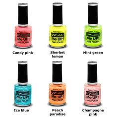PaintGlow UV Neon Glitter me up nagellak - make-up halloween, gothic |