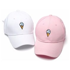 Men Women Ice cream Baseball Cap Adjustable Strapback Trucker Hats ($9.38) ❤…