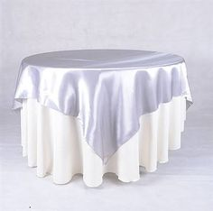 blue and silver table covers