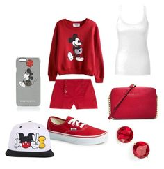 """Mickey Mouse outfit"" by cherireese on Polyvore"