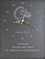 Shop personalized wedding clock gift engraved on slate in 230 x size from our Irish gift online shopping store Wedding Blessing, Wedding Quote, Irish Wedding, Wedding Gifts, Irish Blessing, Online Gifts, Online Shopping Stores, Personalized Wedding, Laser Engraving