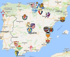 2020 La Liga Map Murcia, Toulouse, World Cup Logo, Liga Soccer, Fifa, Football Fashion, Stamford Bridge, Chelsea Fc, Bilbao