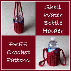 Shell Water Bottle Holder - Free Crochet Pattern