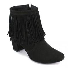 Ankle Boot com Franja Preto BON14100