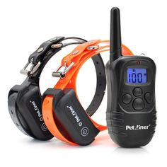 Petrainer PET998DB2 330 Yards Rechargeable and Waterproof Dog Training Collar for 2 dogs with Safe Beep,Vibration and Shock Electric Dog Shock Collar - Walmart.com - Walmart.com Leash Training, Training Collar, Static Shock, 1st Response, Dog Shock Collar, Low Lights, Dog Owners, Dogs, Ebay