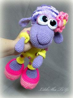 Brinquedo Crochet Amigurumi Pattern Little Sheep em pelo LilikSha