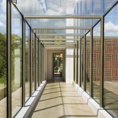 Glass walkway ideal for linking different areas or two separate buildings Pergola Attached To House, Deck With Pergola, Covered Pergola, Pergola Shade, Pergola Patio, Pergola Plans, Pergola Kits, Pergola Ideas, Pergola Cover