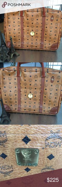 Vintage MCM attaché leather bag Beautiful Vintage MCM attaché /laptop bag . This bag has been around the world! Serious offers only, please! MCM Bags Laptop Bags