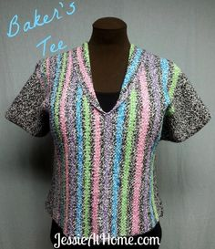 Baker's Tee by JessieAtHome |  Free Crocheting Pattern