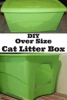 Cat Training Litter Box DIY Cat Litter Box - - Let's just face it, oversize cats call for an Oversize Cat Litter Box! Are you having problems with your cat not always making it to the litter box? Hiding Cat Litter Box, Diy Litter Box, Cat Litter Box Enclosure, Litter Pan, Raising Kittens, Liter Box, Cats And Cucumbers, Cat Behavior, Do It Yourself Home