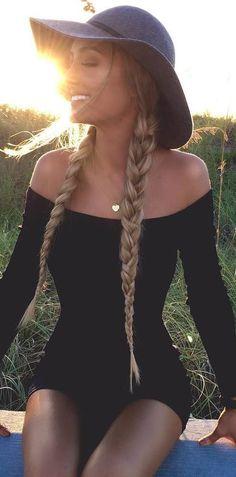 black outfit idea