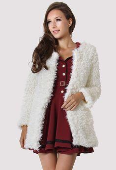 Faux Fur Duffle Coat - Retro, Indie and Unique Fashion