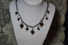 Handmade Wire Wrap Glass Bead Necklace. Starting at $15 on Tophatter.com!Click on link to come to auction ON NOW 4/1 10pm est http://tophatter.com/auctions/18703/standby