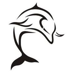 Tatuagem golfinho a mergulhar