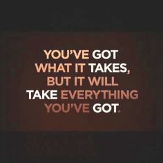 Am I willing to put in the effort to achieve what I want? Give it my all.