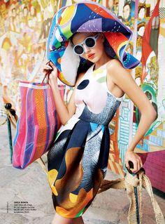 Colorful -- Vogue Australia March 2011