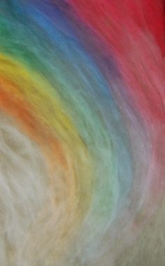 Rainbow Needle Felt Wool Painting Tutorial