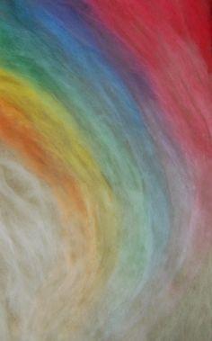 Rainbow Needle Felt Wool Painting Tutorial