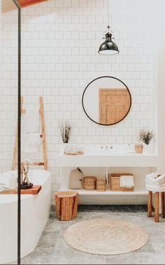 Home Interior Decoration .Home Interior Decoration Bad Inspiration, Bathroom Inspiration, Home Decor Inspiration, Decor Ideas, Bathroom Interior, Modern Bathroom, Small Bathroom, Bohemian Bathroom, Dyi Bathroom