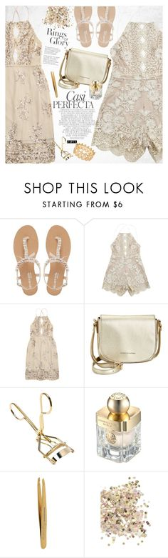 """""""Gold night"""" by vanjazivadinovic ❤ liked on Polyvore featuring Head Over Heels by Dune, Whiteley, Tiffany & Co., Tommy Hilfiger, Shanghai Tang, Tweezerman, Topshop, INC International Concepts, polyvoreeditorial and zaful"""