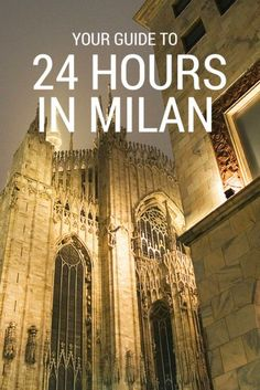 Here's How to Spend a Memorable 24 Hours in Milan, Italy Booking a short stay in Milan? Here's our guide … Oh The Places You'll Go, Places To Travel, Places To Visit, Travel Destinations, Verona, Milan Travel, Italy Travel Tips, Travel Guide, Voyage Europe